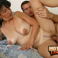 Mom son incest with busty brunette getting fucked